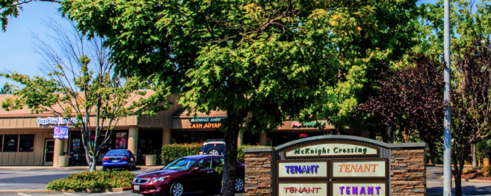 New signage design for McKnight Crossing shopping center